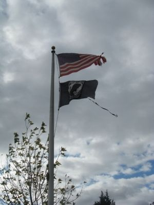 American and POW-MIA Flags image. Click for full size.