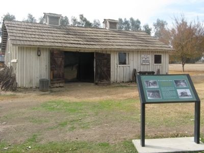 Blacksmith Shop and Marker image. Click for full size.