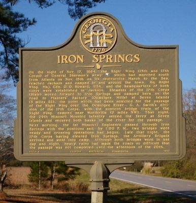 Iron Springs Marker image. Click for full size.