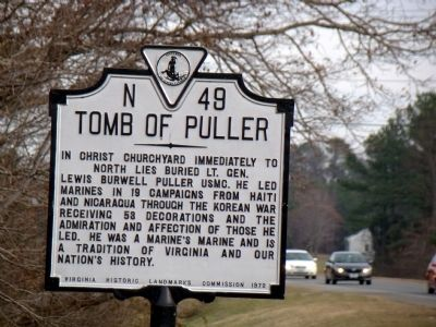 Tomb of Puller Marker image. Click for full size.