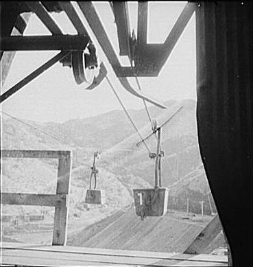 New Idria Mine - Ore Tramway image. Click for full size.