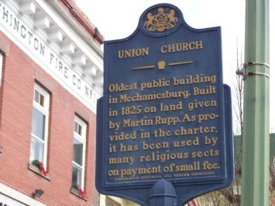 Union Church Marker image. Click for full size.