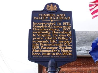 Cumberland Valley Railroad Marker image. Click for full size.