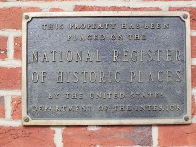 National Register of Historic Places plaque on passenger station image. Click for full size.
