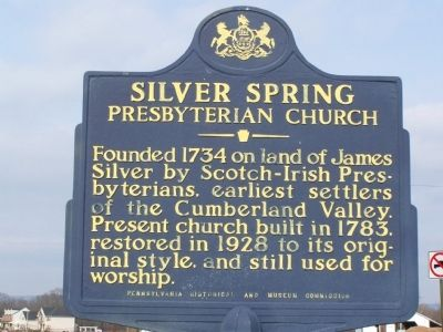 Silver Spring Presbyterian Church Marker image. Click for full size.