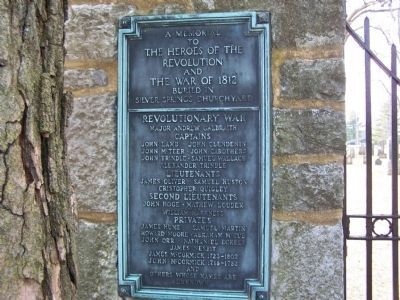 Left Plaque on Graveyard Wall image. Click for full size.