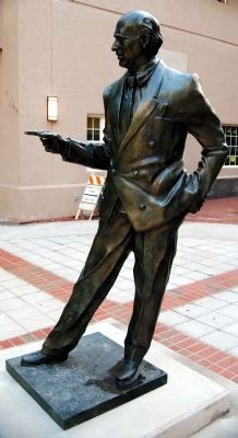 Max Heller Statue -<br>Dedication Day Photo, Click for full size