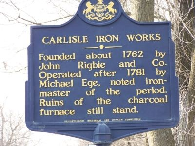 Carlisle Iron Works Marker image. Click for full size.