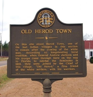 Old Herod Town Marker image. Click for full size.