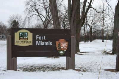 Fort Miamis national Park Service Sign image. Click for full size.