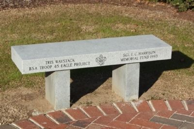 Court House Square Boy Scout Project Bench Photo, Click for full size