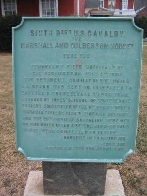 Sixth Regiment U.S. Cavalry Tablet image. Click for full size.