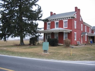 The Benjamin Marshall House and Tablet image. Click for full size.