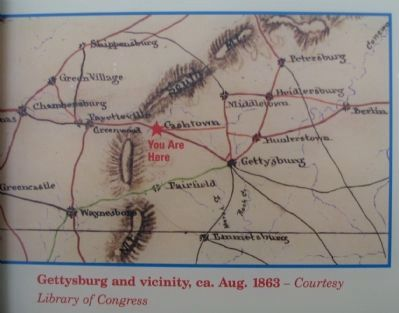 Gettysburg and Vicinity, circa August 1863 image. Click for full size.