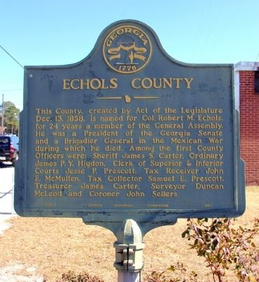 Echols County Marker image. Click for full size.