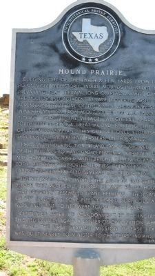 Mound Prairie Marker image. Click for full size.
