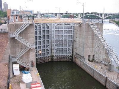 View of Lock from Bridge image. Click for full size.