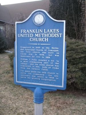 Franklin Lakes United Methodist Church Marker image. Click for full size.