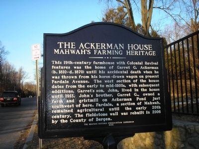 The Ackerman House Marker image. Click for full size.
