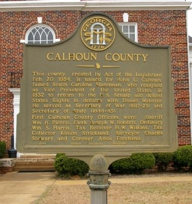 Calhoun County Marker image. Click for full size.