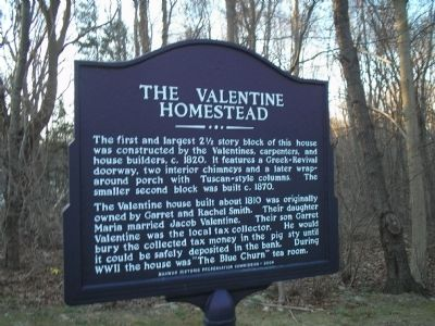 The Valentine Homestead Marker image. Click for full size.
