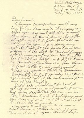 Julius Ellsberry Letter (page1) image. Click for full size.