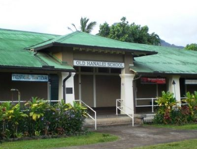 Hanalei Schoolhouse Marker - Wide View image. Click for full size.