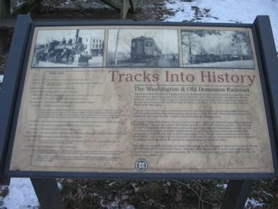 Tracks into History Marker image. Click for full size.