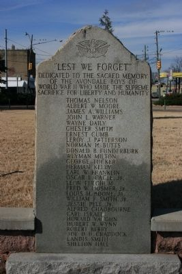 """Lest We Forget"" Marker image. Click for full size."