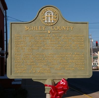 Schley County Marker image. Click for full size.