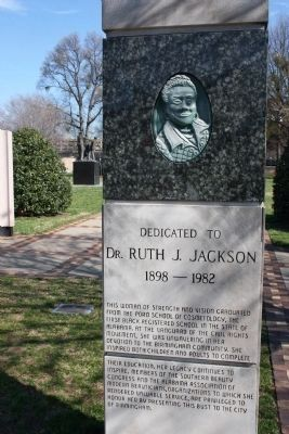 Dr. Ruth J. Jackson Marker image. Click for full size.