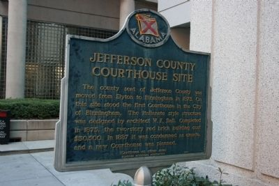 Jefferson County Courthouse Site Marker Side A image. Click for full size.
