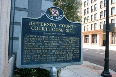 Jefferson County Courthouse Site Marker Side B image. Click for full size.