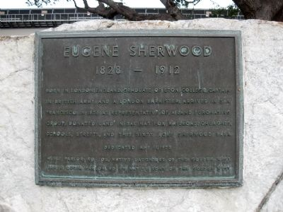 Eugene Sherwood Marker Photo, Click for full size
