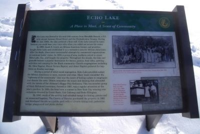 Echo Lake Marker image. Click for full size.