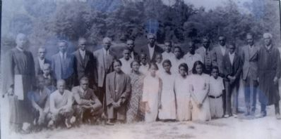 Baptism of Mt. Olive Baptist Church members at Echo Lake, Sunday, Sept. 25th, 1938. image. Click for full size.