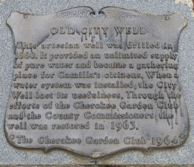 Old City Well Marker image. Click for full size.