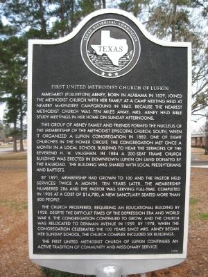 First United Methodist Church of Lufkin Marker image. Click for full size.
