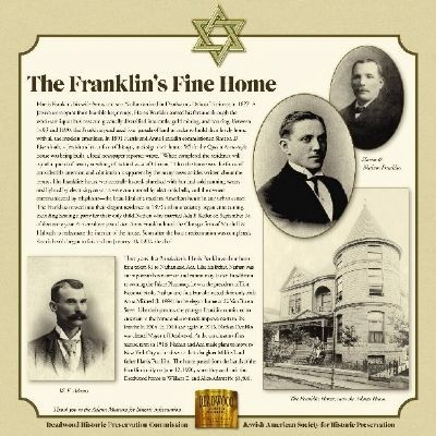 The Franklin�s Fine Home Marker image. Click for full size.
