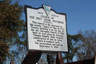 Church of the Holy Cross Stateburg Marker front image. Click for full size.