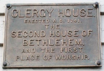 Clergy House Marker image. Click for full size.