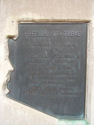 Presidio of Tubac Marker image. Click for full size.