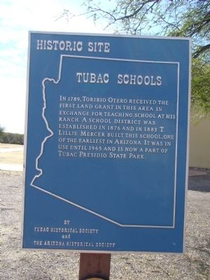 Tubac Schools Marker Photo, Click for full size