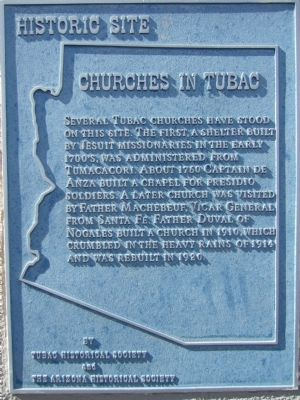 Churches in Tubac Marker image. Click for full size.