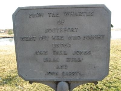 Southport Wharves Marker image. Click for full size.