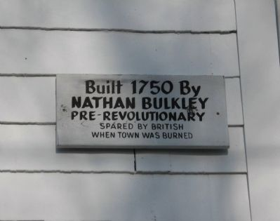 Nathan Bulkley House Marker image. Click for full size.