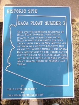 Baca Float Number 3 Marker image. Click for full size.