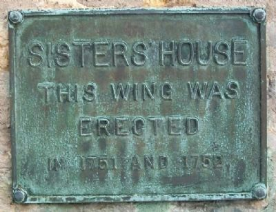 Sisters' House 1751/1752 Wing Marker image. Click for full size.