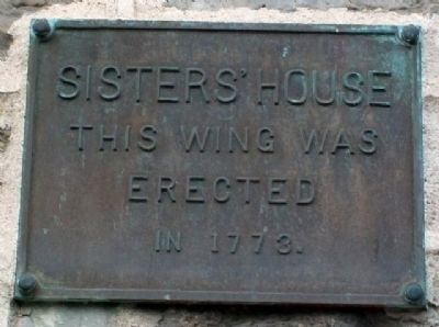 Sisters' House 1773 Wing Marker image. Click for full size.