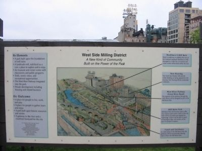 Nearby West Side Milling District Sign image. Click for full size.